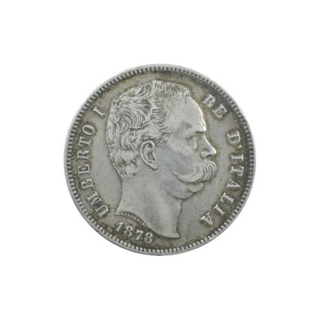 Italie - 5 lires Umberto Ier 1878