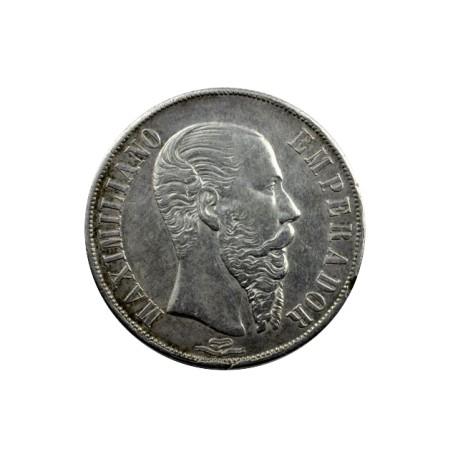 Mexique - 1 Peso Maximilien 1866 Mo