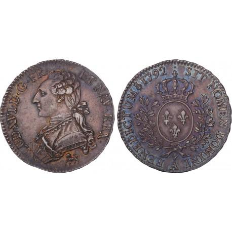 Louis XVI - Demi écu au lauriers 1792 A