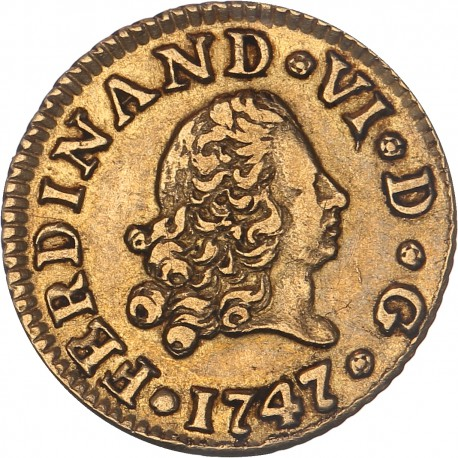 Espagne - 1/2 escudo Ferdinand VI - 1747 Madrid