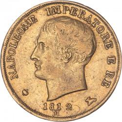 Italie - 20 lires Napoléon Ier 1812 Milan