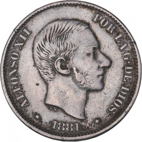 Philippines - 50 centimes de Peso 1881