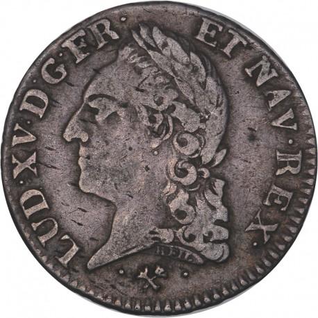 Louis XV - 1/5ème d'écu à la vieille tête 1772 Bayonne