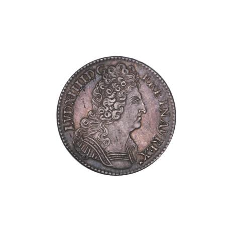 Louis XIV - Demi écu aux trois couronnes 1710 A Paris