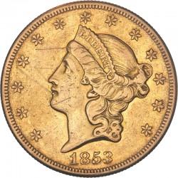 Etats Unis - 20 dollars 1853 O