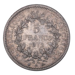 5 francs Hercule - 1872 A Paris