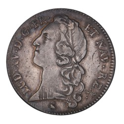 Louis XV - Ecu au bandeau 1762 A
