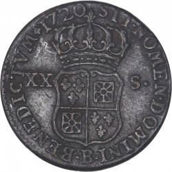 Louis XV - 1/6ème d'écu ou XX sols  1720 Rouen