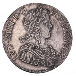 Louis XIV - Ecu à la  mèche longue 1648 H