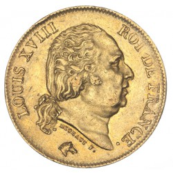 40 francs Louis XVIII 1816 Q