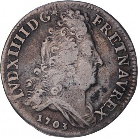 Louis XIV - 10 sols aux insignes - 1703 A