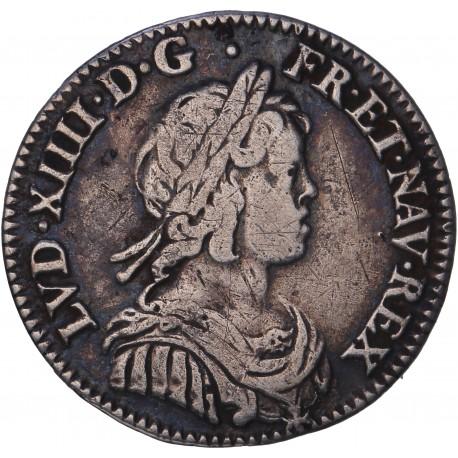 Louis XIV - 1/12 d'écu à la mèche courte  - 1643 A