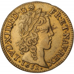 Louis XIV - Louis d'or à la mèche longue - 1652 A