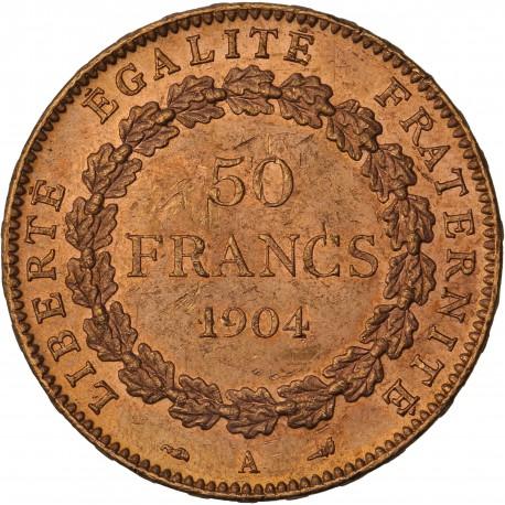 50 francs Génie - 1904 A