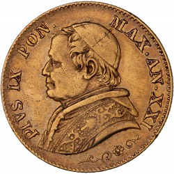 Vatican - 20 lires Pie IX - 1866 R an XXI