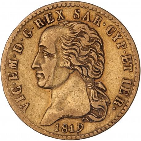 Italie - Sardaigne - 20 lires Victor Emmanuel Ier 1819