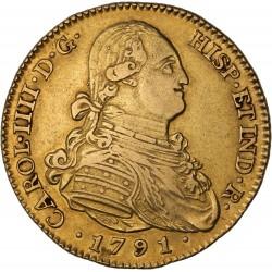 Espagne - 4 escudos Charles IV - 1791