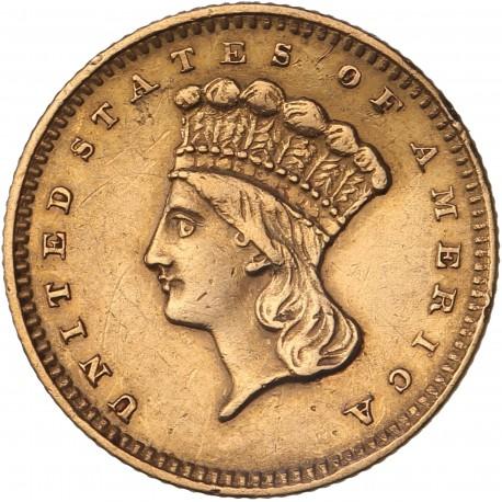 """Etats Unis - 1 dollar """"Tête d'Indien"""" -1857"""