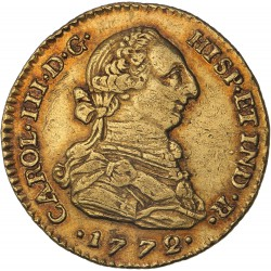 Colombie - 2 escudos Charles III 1772 Bogota
