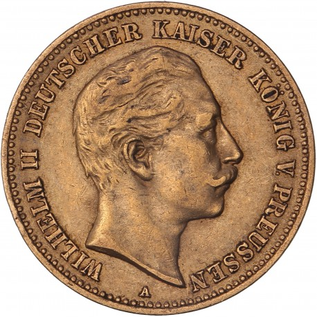Allemagne - Prusse - 10 mark Guillaume II  1905 A