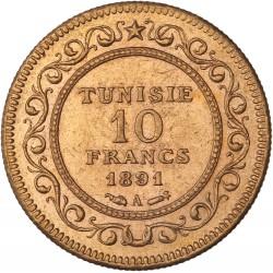 Tunisie - 10 francs 1891 A