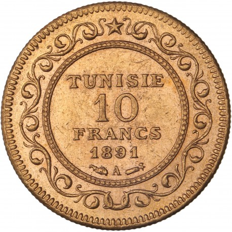 Tunisie - 10 francs 1891 A