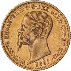 Italie - 20 lires Victor Emmanuel II 1857 P