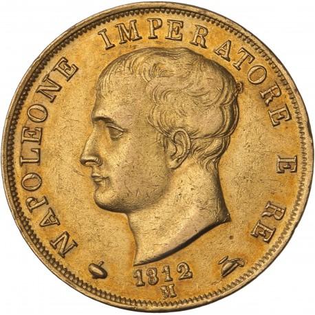 Italie - 40 lires Napoléon Ier 1812 M