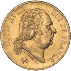 40 francs Louis XVIII 1818 W