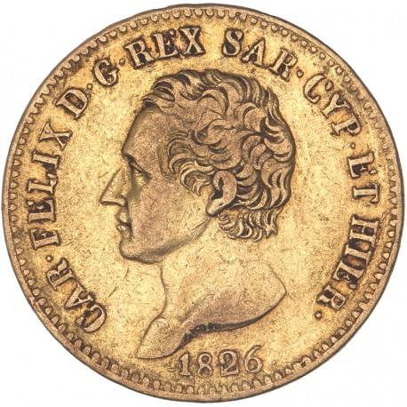 Italie - Sardaigne - 20 lires Charles Felix - 1826 Turin