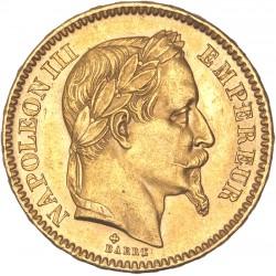 20 francs Napoléon III - 1863 BB