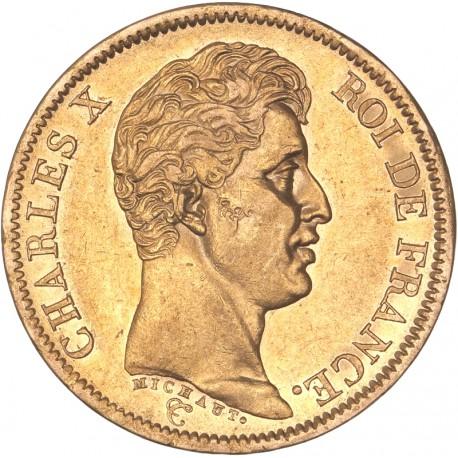 40 francs Charles X 1824 A