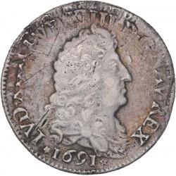 Louis XIV -1/4 d'écu aux 8L - Paris