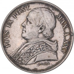 Vatican - 5 lires Pie IX 1870 R an XXV