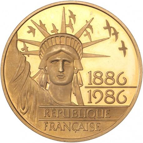 100 francs or Liberté 1986