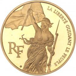 100 francs or Trésor du Louvre - La liberté guidant le peuple