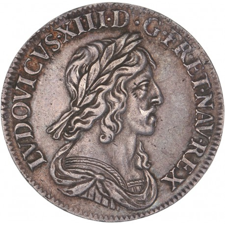 Louis XIII - Quart d'écu 1642 A Rose