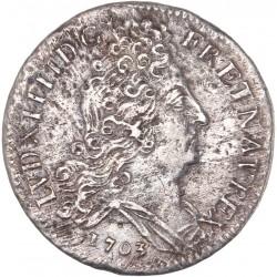 Louis XIV- 10 sols aux insignes 1703 A