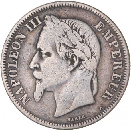 2 francs Napoléon III 1870 A Paris