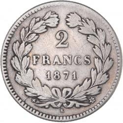2 francs Cérès sans légende 1871 K