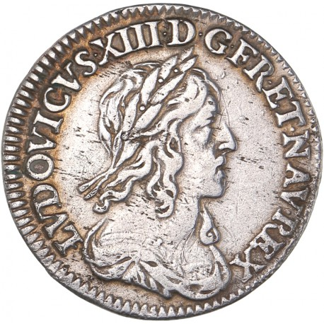 Louis XIII - 1/12 d'écu 1642 A point