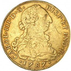 Colombie - 8 escudos Charles III 1787 NR JJ