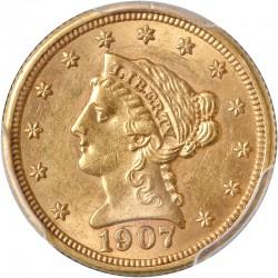 Etats Unis - 2 dollars et demi - 1907