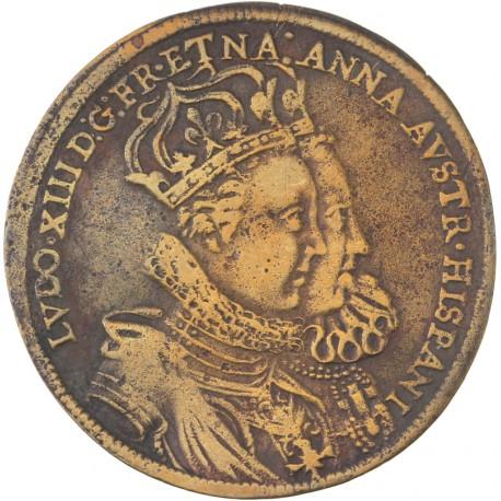 Louis XIII - Renchenpfennig mariage avec Anne d'autriche