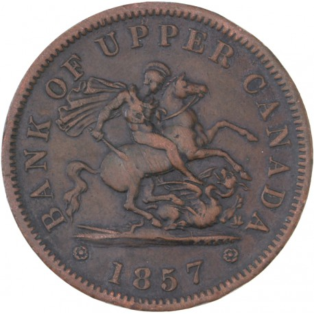 Canada - 1 Penny Bank Token 1857