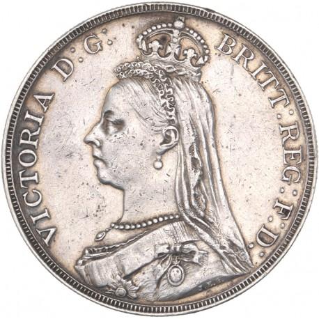 Grande Bretagne - 1 couronne Victoria 1889
