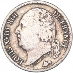 Demi franc Louis XVIII 1824 A Paris