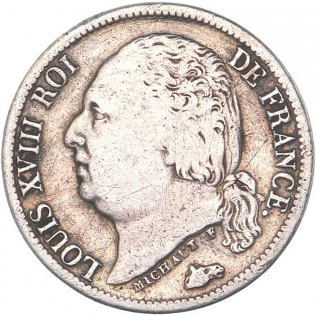 Demi franc Louis XVIII 1824 A Paris