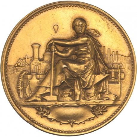 Médaille d'or de la ville de Tulle (poinçon corne OR)