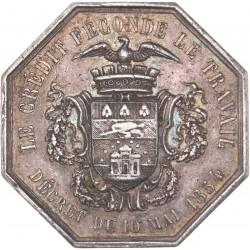 Jeton de banques provinciales : Lille - 1854